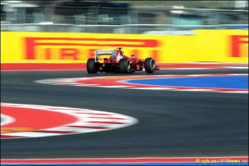 Фелипе Масса на трассе Гран При США