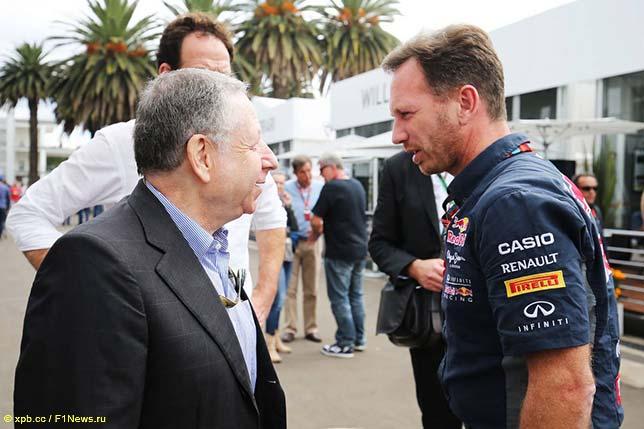 Президент FIA Жан Тодт и Кристиан Хорнер, один из сторонников идеи альтернативных моторов