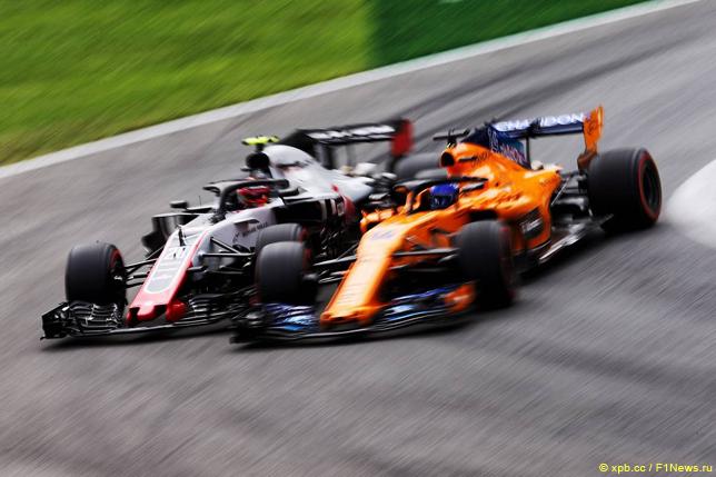 Гран При Италии. Фернандо Алонсо и Кевин Магнуссен