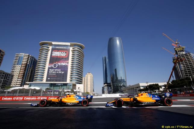 Гран При Азербайджана. Гонщики McLaren