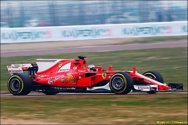 Кими Райкконен обкатывает Ferrari SF70H в Фьорано