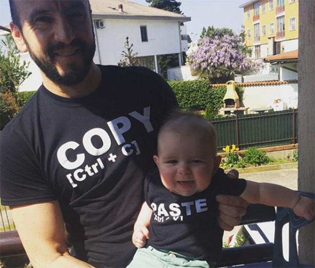 Франческо Чигарини с сыном