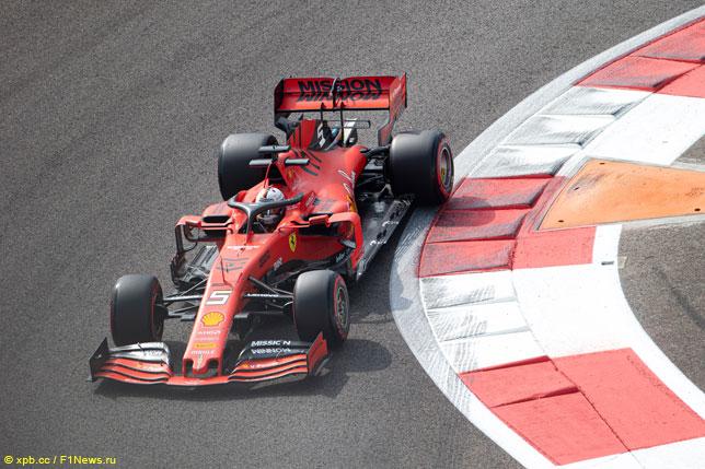 Себастьян Феттель за рулём Ferrari