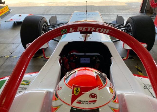 Джанлука Петекоф за рулём машины Формулы Regional на тестах в Имоле
