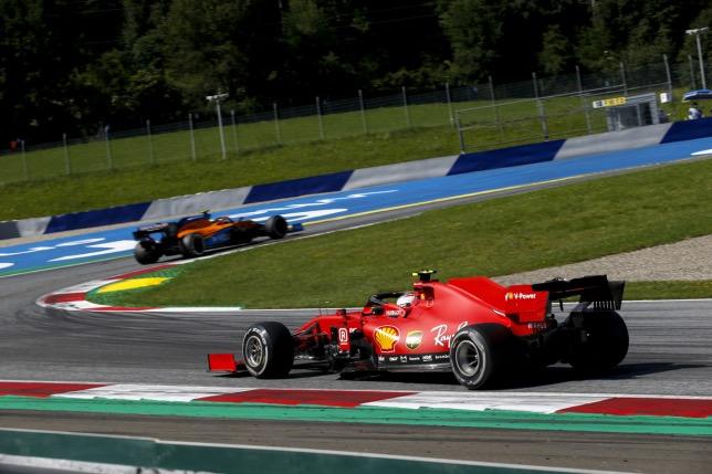 Шарль Леклер на трассе Гран При Австрии