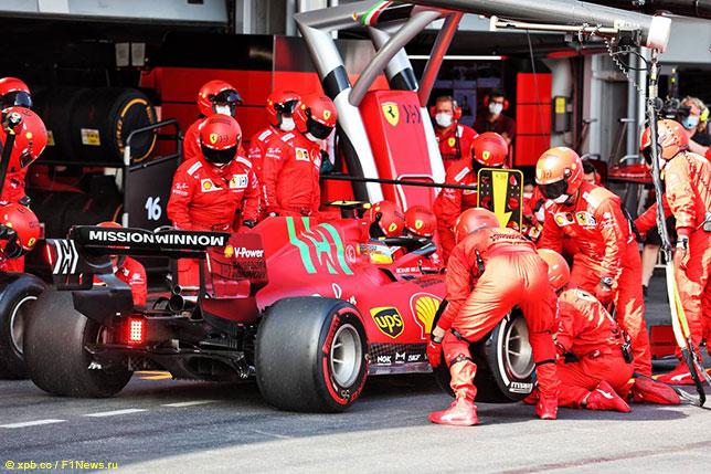 Логотип Mission Winnow были на машинах Ferrari ещё в Баку