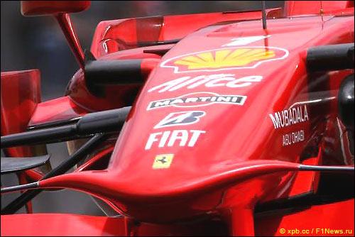 Логотип Martini на Ferrari F2008