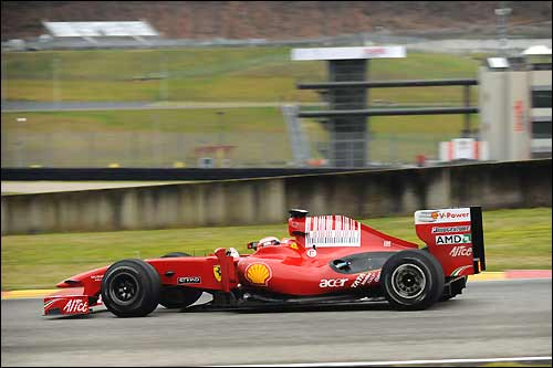 Ferrari F60 на тестах в Муджелло