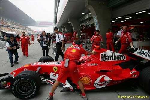 Ferrari на Гран При Китая 2005 года