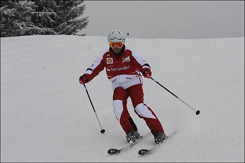 Во вторник Фелипе Масса катался на лыжах