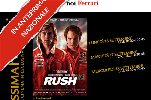 Постер спецпоказа Rush в Маранелло