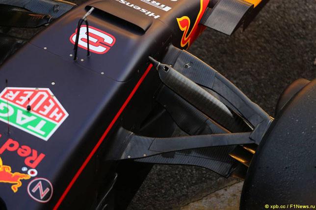 Передняя подвеска на машине Red Bull RB13