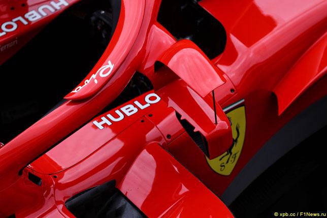Вариант Ferrari размещения зеркал заднего вида на Halo