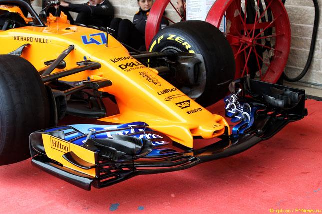 Переднее антикрыло McLaren