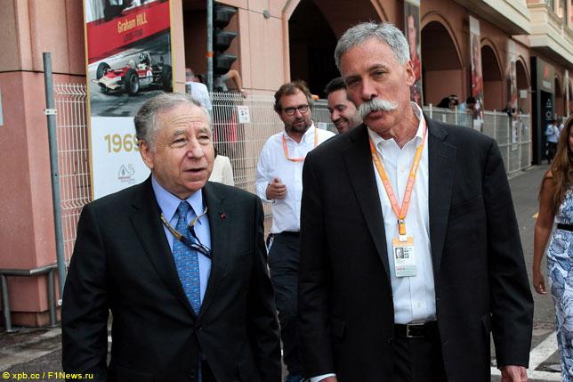 Президент FIA Жан Тодт и руководитель Формулы 1 Чейз Кэри