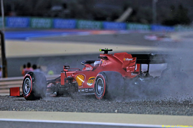 Шарль Леклер за рулём Ferrari SF1000