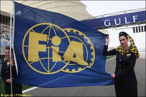 Флаг FIA на Гран При Бахрейна