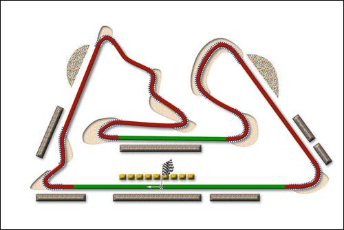 Схема трассы Сахир