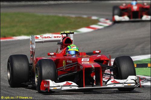 Пилоты Ferrari на прошлогоднем Гран При Италии