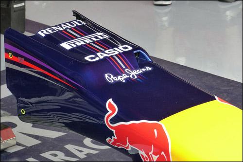 Носовой обтекатель Red Bull Racing в Испании. Фото AMS