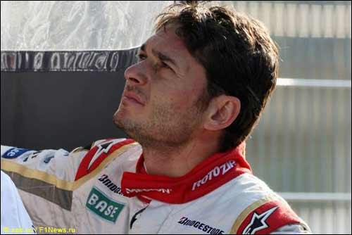 Джанкарло Физикелла на тестах в Барселоне