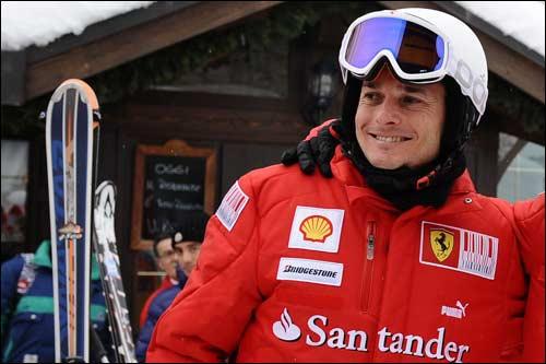 Джанарло Физикелла на празднике Ferrari в Мадонна-ди-Кампильо
