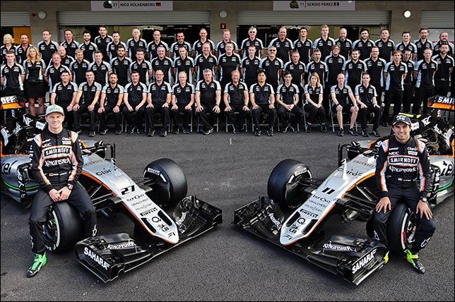 Групповая фотография Force India в дни проведения Гран При Мексики