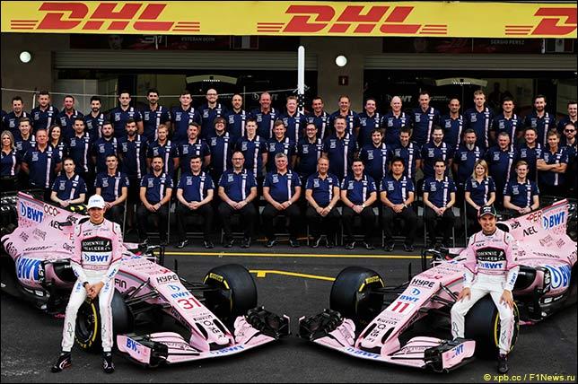 Групповая фотография Force India