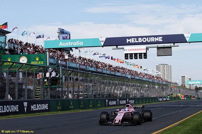Серхио Перес на трассе Гран При Австралии 2017 года