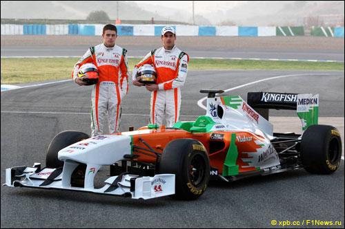 Force India. Пол ди Реста и Адриан Сутил