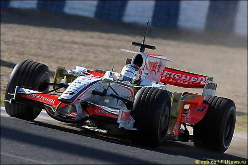 Force India на тестах в Хересе