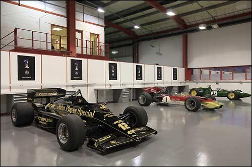 Исторические машины Lotus на базе команды в Норфолке