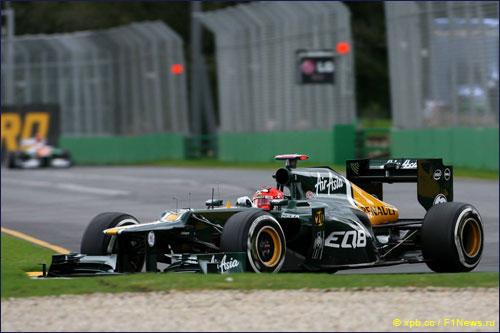 Хейкки Ковалайнен на трассе Гран При Австралии