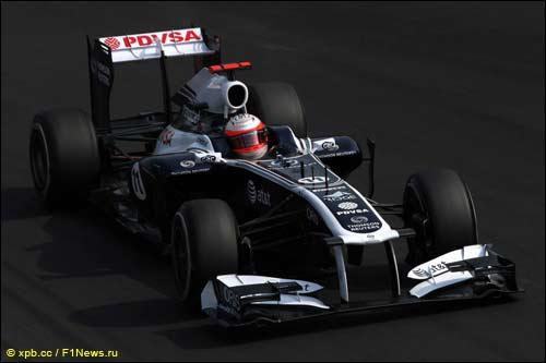 Рубенс Баррикелло за рулём Williams FW33