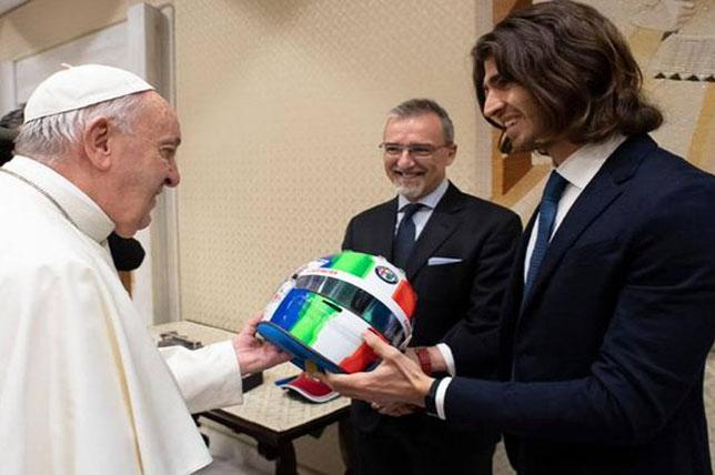 Антонио Джовинацци на встрече с Папой Римским