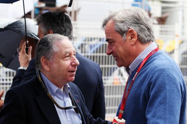 Карлос Сайнс и Жан Тодт, президент FIA