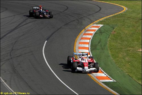 тимо Глок на трассе Гран При Австралии 2008-го года
