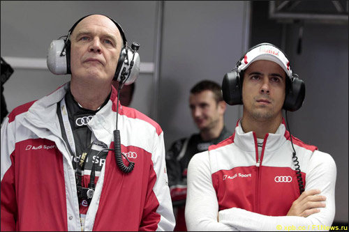 Руководитель Audi Motorsport Вольфганг Ульрих и Лукас ди Грасси