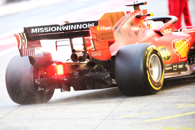 Детали задней подвески Ferrari