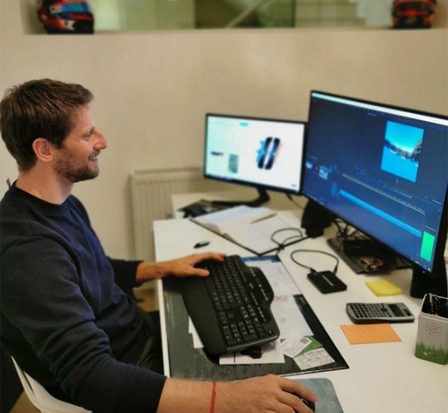 Роман Грожан монтирует видеоотчёт о своей первой лыжной прогулке в наступающем зимнем сезоне