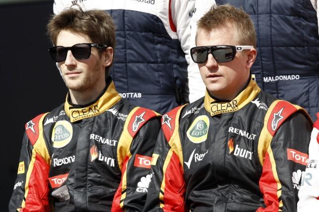 Роман Грожан и Кими Райкконен в 2013 году, когда они были напарниками в команде Lotus