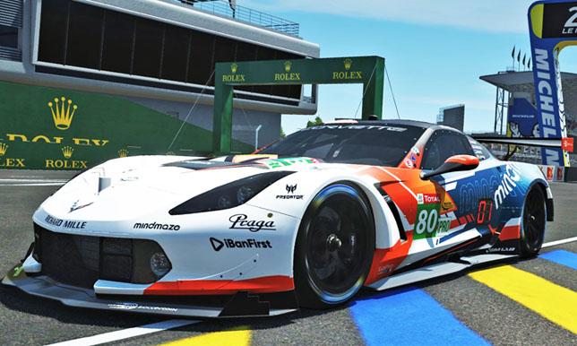 Машина команды R8G Esport в виртуальном Ле-Мане
