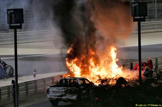 "Авария на трассе ""Формула 1"" Авто,спорт"