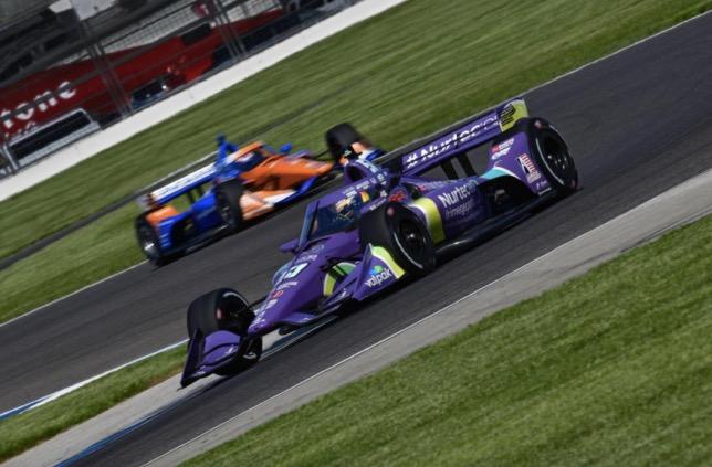 Роман Грожан на трассе Гран При Индианаполиса