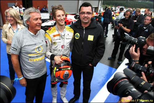 Руководители DAMS и Lotus Renault, и Роман Грожан