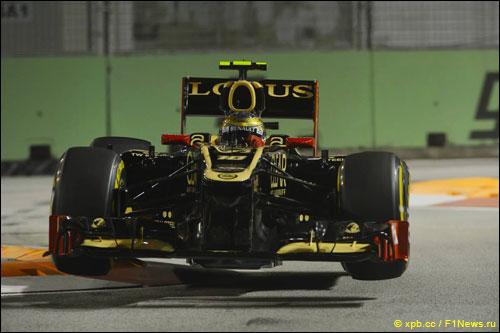 Роман Грожан на трассе Гран При Сингапура