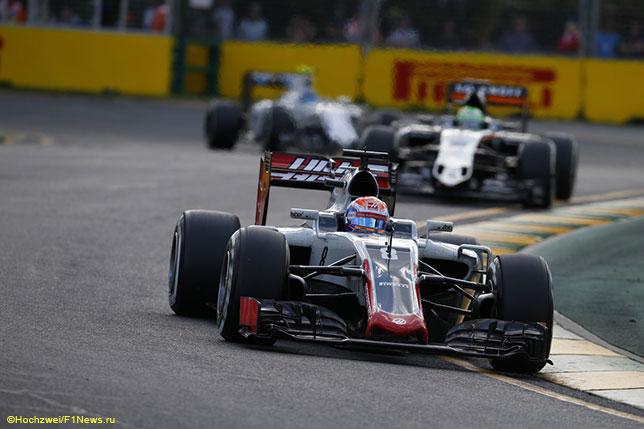 Роман Грожан на трассе Гран При Австралии