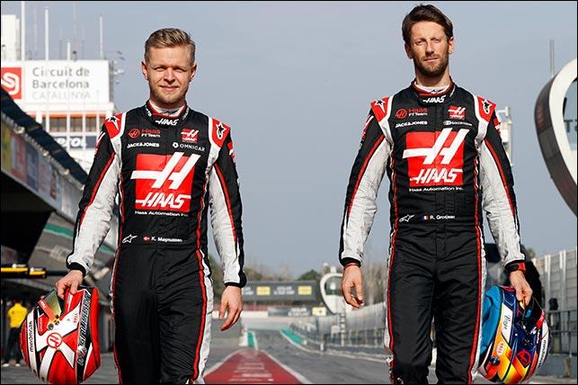 Кевин Магнуссен и Роман Грожан. Фото: пресс-служба Haas F1