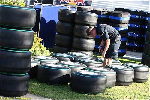 Шины Bridgestone, подготовленные для Гран При Малайзии
