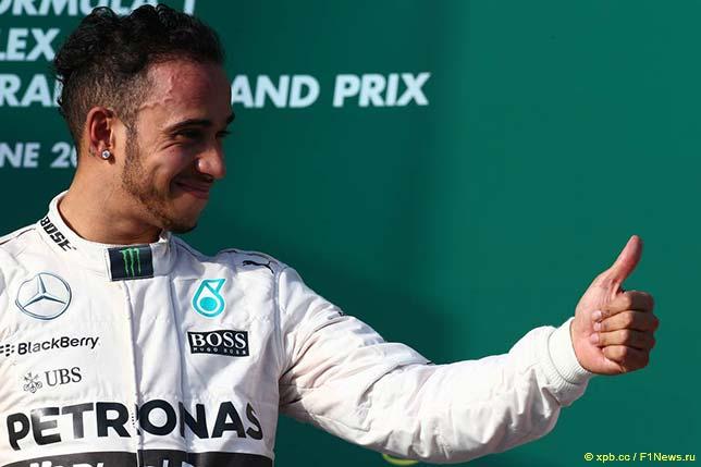 Льюис Хэмилтон - победитель Гран При Австралии